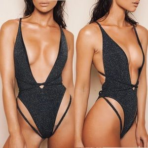 Other - NWT S M Bling sexy monokini swimsuit bodysuit